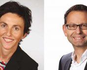 Annette Silberhorn-Hemminger und Thomas Heubach haben sich besonders für die Organisation der zukünftigen Nutzung im neuen Sportpark Weil interessiert.