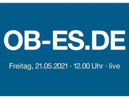 Vorstellung des Kandidaten für die Esslinger Oberbürgermeisterwahl im Lifestream